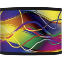 Colors in Motion Giclee Lamp Shade 13.5x13.5x10 (Spider)