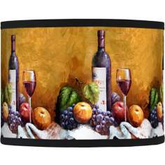 Wine and Fruit Giclee Glow Lamp Shade 13.5x13.5x10 (Spider)