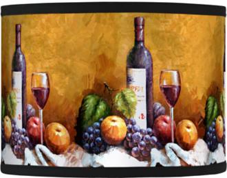Wine and Fruit Giclee Lamp Shade 13.5x13.5x10 (Spider) (37869-74631)