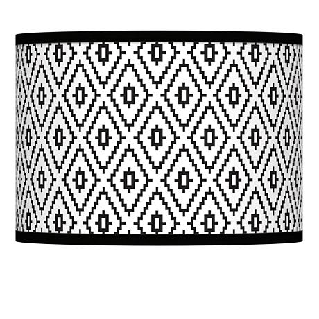 Black Diamonds Giclee Lamp Shade 13.5x13.5x10 (Spider)