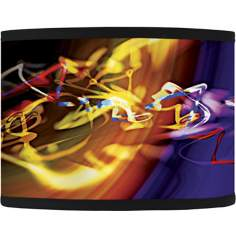 Yellow Flare Giclee Glow Lamp Shade 13.5x13.5x10 (Spider)