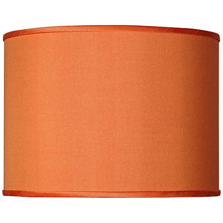 Orange Faux Silk Lamp Shade 13.5x13.5x10 (Spider)