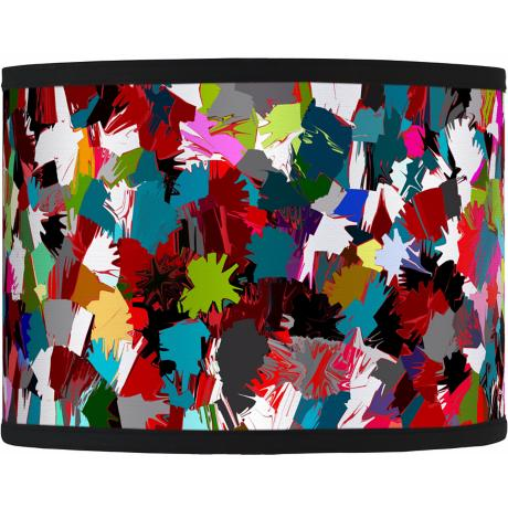 Color Splatter Giclee Drum Shade 13.5x13.5x10 (Spider)