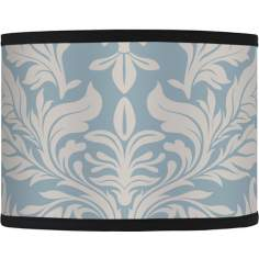 Ivory and Blue Tapestry Giclee Shade 13.5x13.5x10 (Spider)