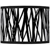 Black Jagged Stripes Giclee Glow Shade 13.5x13.5x10 (Spider)