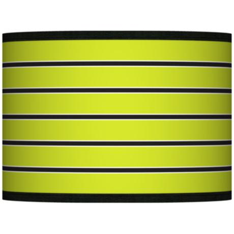 Bold Lime Green Stripe Giclee Shade 13.5x13.5x10 (Spider)