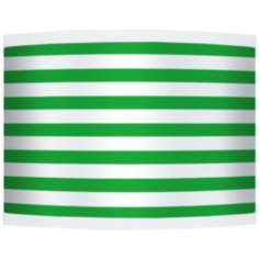 Green Horizontal Stripe Giclee Shade 13.5x13.5x10 (Spider)