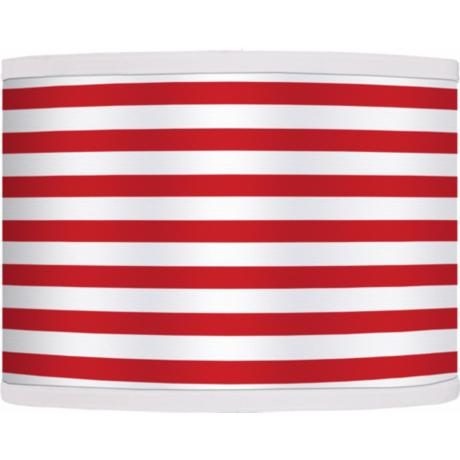 Red Horizontal Stripe Giclee Shade 13.5x13.5x10 (Spider)