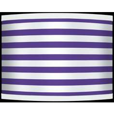 Purple Horizontal Stripe Giclee Shade 13.5x13.5x10 (Spider)