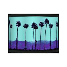 Palm Tree Haze Giclee Glow Shade 13.5x13.5x10 (Spider)