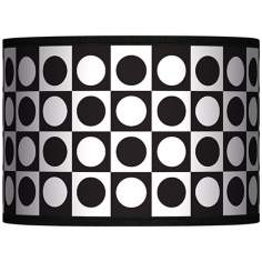 Black and White Dotted Squares Giclee 13.5x13.5x10 (Spider)