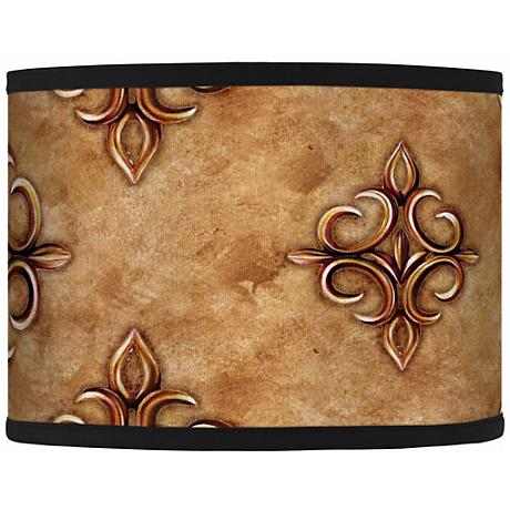 Estate Nutmeg Giclee Glow Drum Shade 13.5x13.5x10 (Spider)