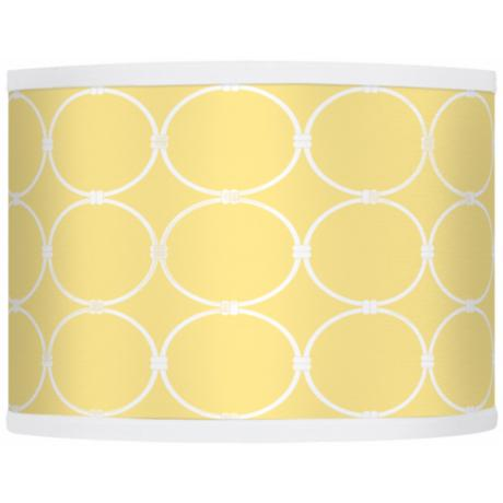 Lemon Interlace Giclee Glow Drum Shade 13.5x13.5x10 (Spider)