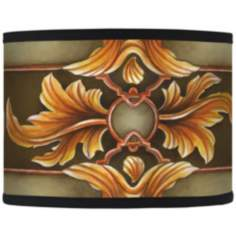 Etruscan Sunset Giclee Opaque Drum Shade 13.5x13.5x10 (Spider)