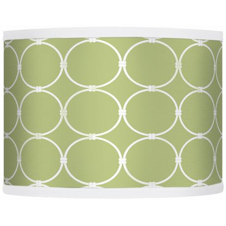 Spring Interlace Giclee Glow Drum Shade 13.5x13.5x10 (Spider)