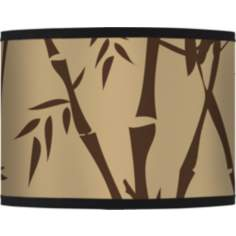 Earth Bamboo Giclee Glow Lamp Shade 13.5x13.5x10 (Spider)