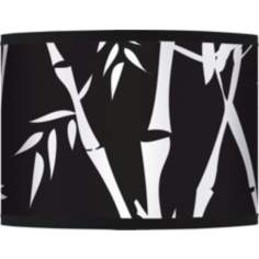 Night Bamboo Giclee Glow Lamp Shade 13.5x13.5x10 (Spider)