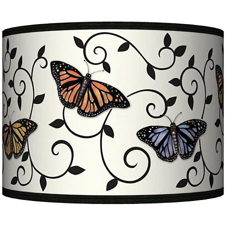 Butterfly Scroll Giclee Lamp Shade 13.5x13.5x10 (Spider)