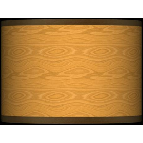 Wood Grain Giclee Glow Lamp Shade 13.5x13.5x10 (Spider)