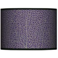 Stacy Garcia Seafan Rich Plum Lamp Shade 13.5x13.5x10 (Spider)
