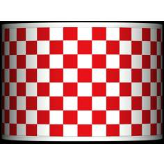 Checkered Red Giclee Glow Lamp Shade 13.5x13.5x10 (Spider)