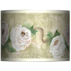 Tea House Rose Giclee Glow Lamp Shade 13.5x13.5x10 (Spider)