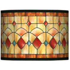 Tiffany Reds Giclee Glow Lamp Shade 13.5x13.5x10 (Spider)