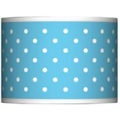 Mini Dots Aqua Giclee Glow Lamp Shade 13.5x13.5x10 (Spider)