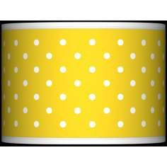 Mini Dots Yellow Giclee Glow Lamp Shade 13.5x13.5x10 (Spider)