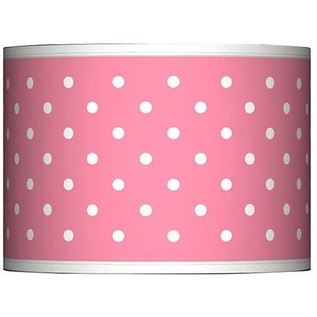 Mini Dots Pink Giclee Glow Lamp Shade 13.5x13.5x10 (Spider)