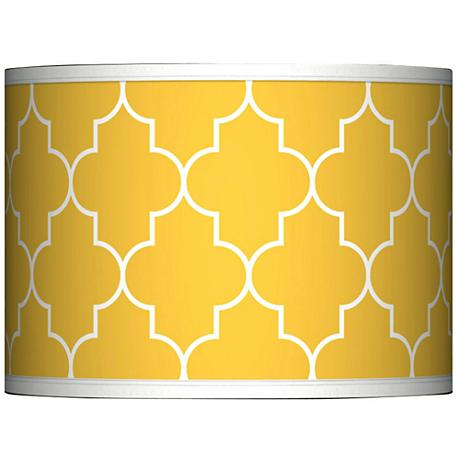 Tangier Yellow Giclee Glow Lamp Shade 13.5x13.5x10 (Spider)