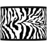 Safari Zebra Giclee Glow Lamp Shade 13.5x13.5x10 (Spider)