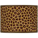Safari Cheetah Giclee Glow Lamp Shade 13.5x13.5x10 (Spider)