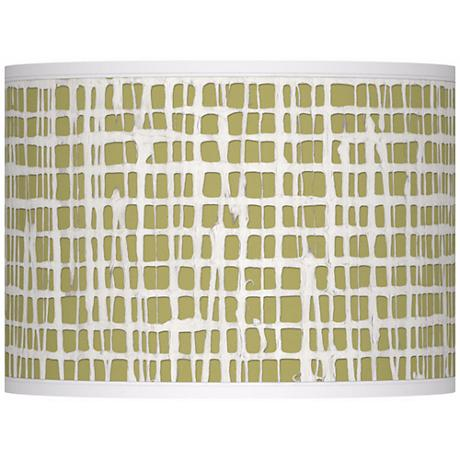 Ecru Screen Linen Giclee Glow Lamp Shade 13.5x13.5x10 (Spider)