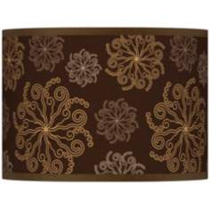 Chocolate Blossom Giclee Lamp Shade 13.5x13.5x10 (Spider)
