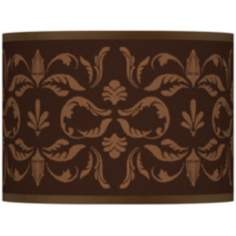 Mocha Flourish Giclee Lamp Shade 13.5x13.5x10 (Spider)