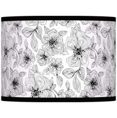 Stacy Garcia Linear Floral Lamp Shade 13.5x13.5x10 (Spider)