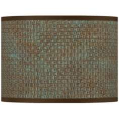Interweave Patina Giclee Lamp Shade 13.5x13.5x10 (Spider)