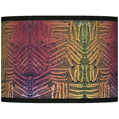 Autumn Fractals Giclee Lamp Shade 13.5x13.5x10 (Spider)