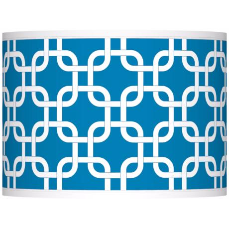 Blue Lattice Giclee Shade 13.5x13.5x10 (Spider)