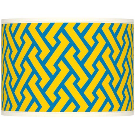 Yellow Brick Weave Giclee Shade 13.5x13.5x10 (Spider)