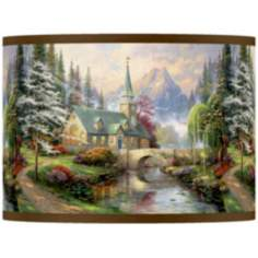 Thomas Kinkade Dogwood Chapel Shade 13.5x13.5x10