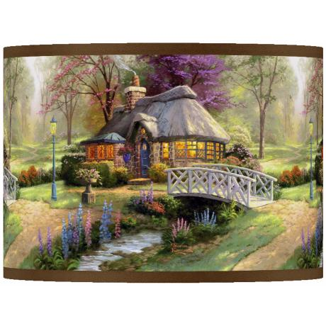 Thomas Kinkade Friendship Cottage Shade 13.5x13.5x10