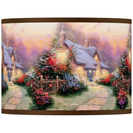Thomas Kinkade Glory of Evening Shade 13.5x13.5x10