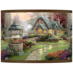 Thomas Kinkade Make a Wish Cottage Shade 13.5x13.5x10