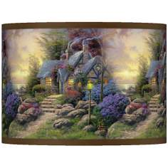 Thomas Kinkade Seaside Hideaway Shade 13.5x13.5x10