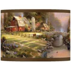 Thomas Kinkade Sunset at Riverbend Farm Shade 13.5x13.5x10