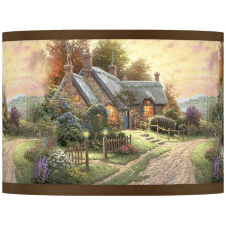 Thomas Kinkade A Peaceful Time Shade 13.5x13.5x10