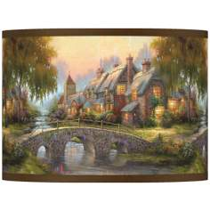 Thomas Kinkade Cobblestone Bridge Shade 13.5x13.5x10