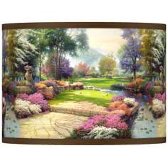 "Thomas Kinkade Living Waters Golfer's Paradise 10""H Shade"